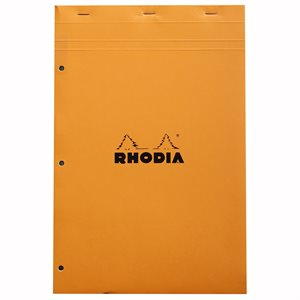 RHODIA BLOC LIGNÉ PERFORÉ 210x297 ORANGE