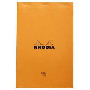 RHODIA BLOC #19 LIGNÉ JAUNE 210x318 ORANGE