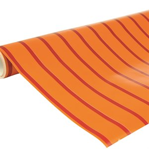 ACCACIA 5m x 70cm RAYURES ROUGE / ORANGE 80g