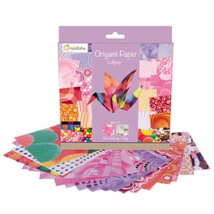 Papier Origami 60 fls assorties Lollipop