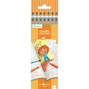 Marque-pages à colorier Graffy Bookmarks- Animaux rigolos
